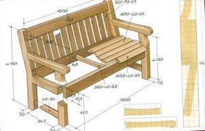 Дачные поделки садовой мебели