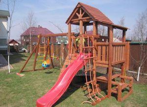 Детская площадка своими руками на даче