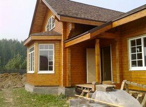 Как выглядят дома из бруса