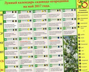 Календарь садовода и огородника на май 2014
