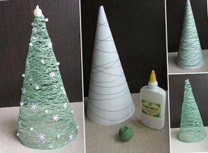 Новогодний декор из подручных материалов