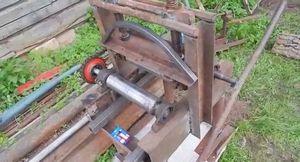 Простая садовая скамейка из профильной трубы своими руками