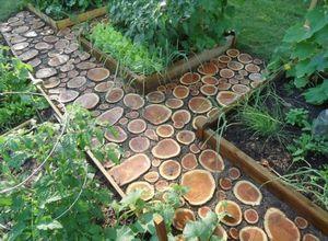 Садовые дорожки своими руками – творим из пеньков и спилов