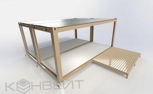 Строим дачный домик из модулей конвейт