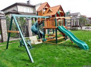 Устраиваем детскую площадку на даче