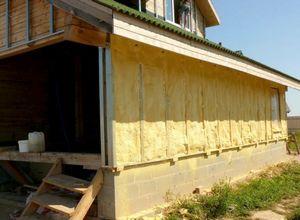 Утепление деревянного дома наружним способом